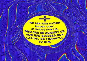 RELIGION/CROSS-ONE NATION UNDER GOD
