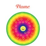 Rainbow Smiley (personalized)