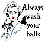 Always wash your balls
