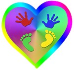 Baby Handprints and Footprints with Heart New