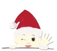 Santa Baby Peek-a-Boo in Santa Hat