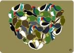 NZ Birds Heart