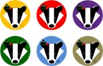 Christmas Badger Faces