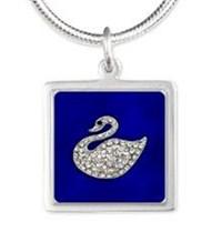 Jewelled Swan on Blue