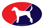 UK Flag English Foxhound