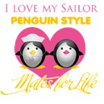 I Love My Sailor Penguin Style