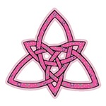 Flowered Pink Triquetra