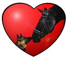 Dog & Horse Red Heart. Horse Gifts & Clothes