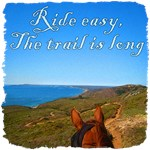 Ride easy, the trail is long. Wise horse saying.