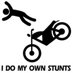 Funny motorcycle stunts, motorcycle clothing