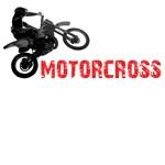 Motorcross. Jumping mx motorcycle.