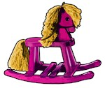 Pony, cute rocking horse design on clothing.