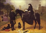 Queen Victoria at Osborne. Horse art painting.
