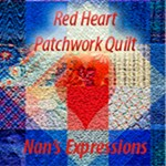 Red Heart Patchwork Quilt