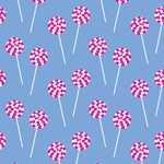 Lollipop Pattern (Blue)
