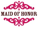 Maid of Honor  (Hot Pink and Chocolate Brown)