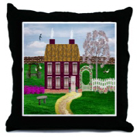 Country Village Series© Throw Pillows