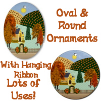 Country Village Series© Ornaments (Oval & Round)