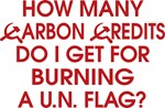 How many carbon credits do I get for burning a U.N