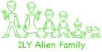 ILY Alien Family Text