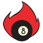 Flaming Eight Ball Tattoo