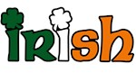 Irish Tri-color with Shamrocks