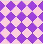 Harlequin Diamond Argyle Pattern Pastel Pink Purpl