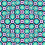 Moroccan Inspired Star Tile Pattern Pink Blue
