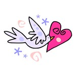Valentine Hearts Dove