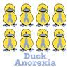 Anorexia Nervosa Awareness Ribbon Ducks