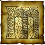 Celtic Knotwork Letter M