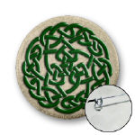 Celtic Jewel-Tone Round Knot Buttons