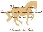 da Vinci spirit art sayings - horse