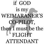 Weimaraner Flight Attendant