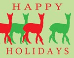 Happy Holidays Alpaca