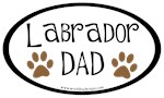 Labrador Dad Oval
