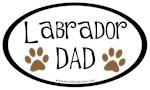 Labrador Dad Oval