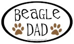 Beagle Dad Oval