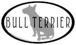 Bull Terrier Oval w/Text
