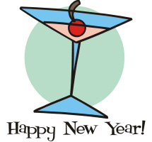 New Year Cocktail T-Shirts Gifts Aprons Buttons