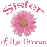 Sister of the Groom Wedding Apparel Gerber Daisy