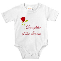 Wedding Party Red Rose Daughter of the Groom Tees