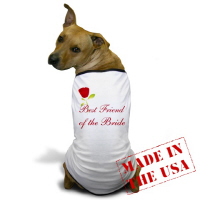 Wedding Party Red Rose Best Friend of the Bride T