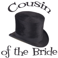 Top Hat Cousin of the Bride T-Shirts Gifts