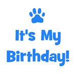 It's My Birthday - Blue Paw