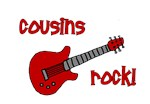 Cousins Rock! red guitar