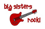 Big Sisters Rock! red guitar