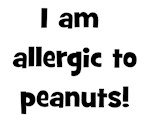 Allergic to Peanuts - Black