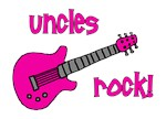 Uncles Rock! Pink Guitar