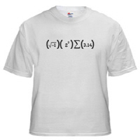 I 8 Sum Pi is the perfect shirt for a humorous mathematician.  If your inner self if a true math geek and this I 8 Sum Pi makes you giggle then you should buy this great math geek t-shirt